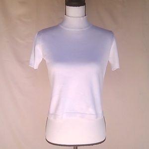 New, Liz Claiborne, White 100% Cotton Crop Top